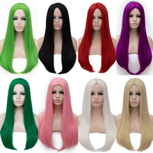 Synthetic Orange Color Women's Wig