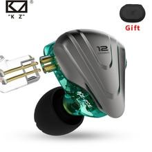 KZ ZSX Terminator โลหะในหูฟัง 12 UNITS HYBRID 5BA + 1DD หูฟังไฮไฟหูฟังตัดเสียงรบกวน MONITOR