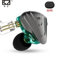 Металлические наушники Terminator KZ ZSX, 12 шт., гибридные Hi Fi басовые наушники 5BA + 1DD, наушники с шумоподавлением, гарнитура, монитор