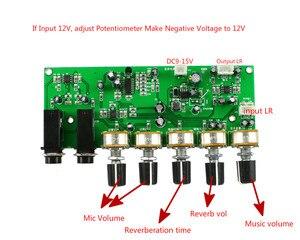 Image 4 - GHXAMP PT2399 Karaoke Reverb Microfoon Voorversterker Board Galm Versterker DIY DC12V Ingebouwde Boost Dynamische Dual P