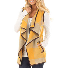 Print Cardigan Overcoat Loose Jackets Pocket Female Coat Women Autumn Winter Sle