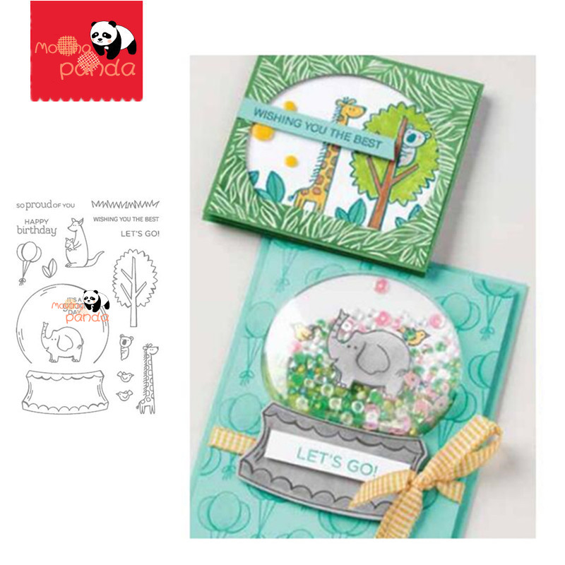 MP126 ZOO GLOBE Metal Cutting Dies And Stamps For DIY Scrapbooking Decorative Embossing Handcraft Die Cutting Template