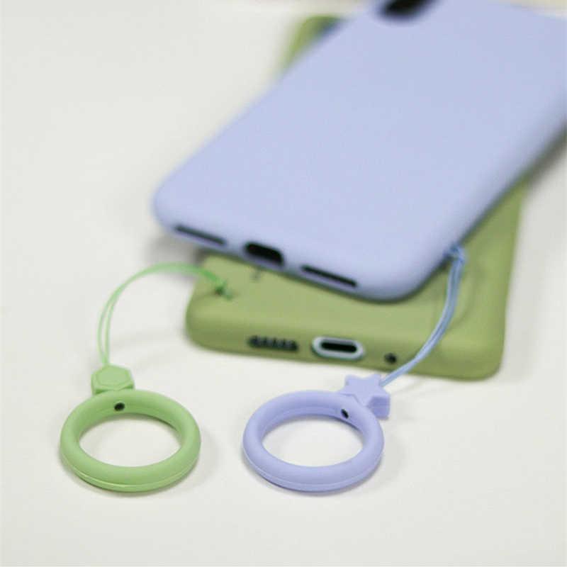 Líquido de silicona anillo de dedo correas de mano llavero cuerda de mano cámara USB llaves accesorios para iphone samsung galaxy funda