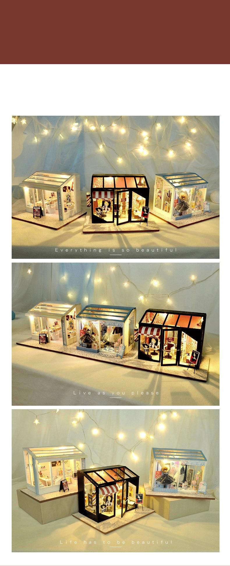 H9a284a20f6bf4114bce6cdd0f601ab10I - Robotime - DIY Models, DIY Miniature Houses, 3d Wooden Puzzle