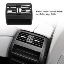 Z tyłu konsola środkowa świeżego powietrza odpowietrznik wylotowy osłona na maskownicę z przyciskiem wyposażenie wnętrza dla BMW serii 5 530D 525D 535D F10 F18 tanie tanio CN (pochodzenie) ABS+PC Instalacja klimatyzacyjna 375g 23cm Grille 2010-2016 10cm 25cm Black rear center console AC fresh air outlet