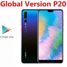Wersja międzynarodowa Huawei P20 EML-L29 4G LTE telefon komórkowy 24.0MP + 20.0MP + 12.0MP 4GB RAM 128GB ROM NFC Kirin 970 5.8