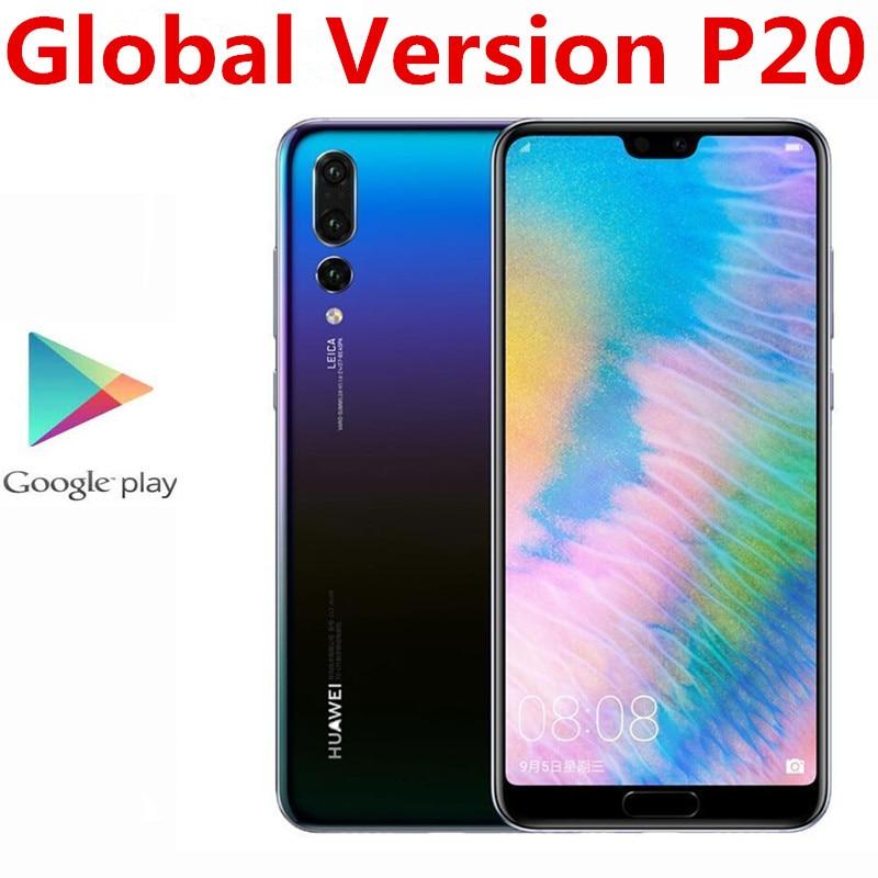 "Internationale Versie Huawei P20 EML-L29 4G Lte Mobiele Telefoon 24.0MP + 20.0MP + 12.0MP 4Gb Ram 128Gb rom Nfc Kirin 970 5.8 ""2244x1080"