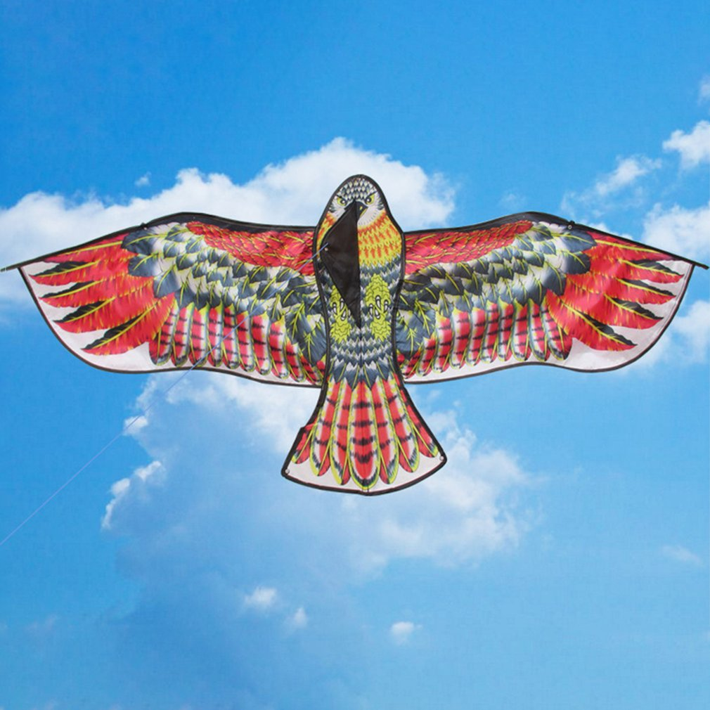 New Toys 1.1m Huge Eagle Kite With String And Handle Novelty Toy Kites Eagles Large Flying For Children's Best Gift