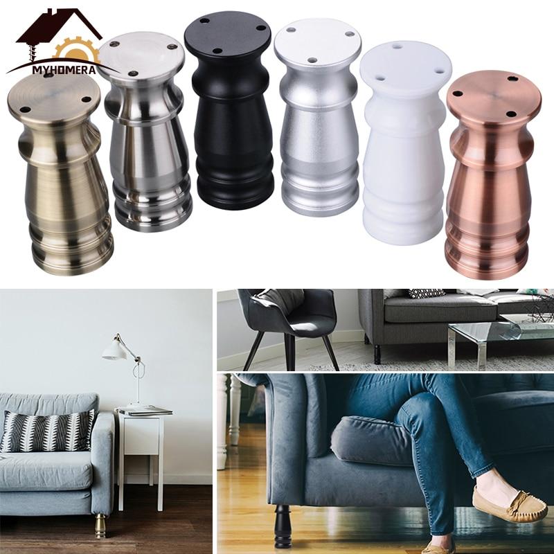 Myhomera 80mm-150mm Furniture Feet Leg Adjustable Cabinet Sofa Legs Aluminum Cupboard Coffee Tea Table Bathroom Protective Foot