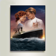 DIY By Digital Painting Titanic Classic Oil Paint In Canvas  Wedding Living Room Decoration Gift