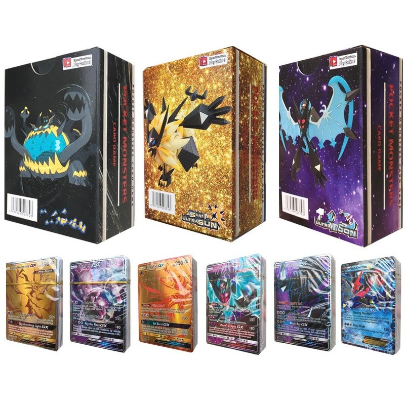 100-300pcs Pocket Monster GX EX MEGA Shining Cards Game Battle Carte Trading Cards Game Children Toy
