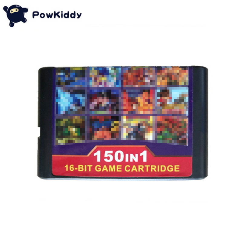 Free shipping Hight quality 150in1 Game Cartridge 16BIT MD Game Card For Sega Mega Drive for PAL and NTSC console drop shopping image