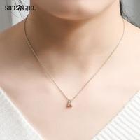 SIPENGJEL Mode Einfache Kleine Name Initial Brief Halskette Gold Farbe CZ Alphabet Charme Dünne Kette Halskette Für Frauen Schmuck