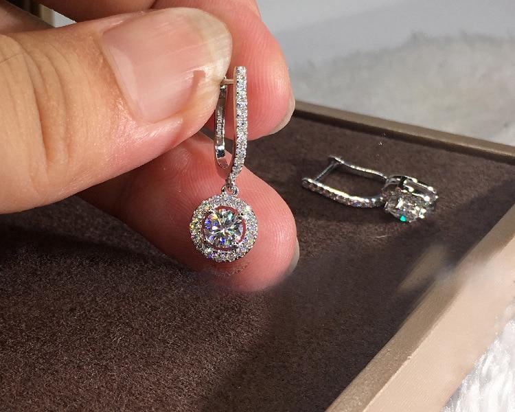 Cute Silver Round Bling Earrings for Women Fashion Jewelry Korean Earrings 2019 New 925 Silver