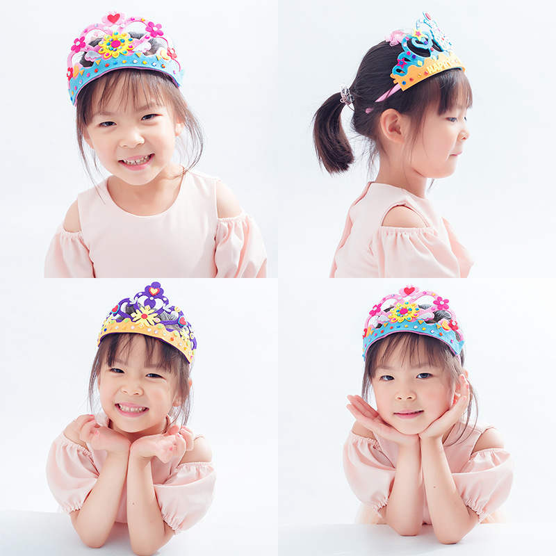 Crown Hat Headdress DIY Toys For Children Kindergarten Manual Learning Education Toys Montessori Teaching Aids Kids Toy