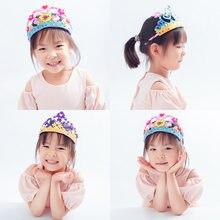 Coroa chapéu headdress diy brinquedos para crianças jardim de infância manual aprendizagem educação brinquedos montessori auxiliares de ensino crianças brinquedo