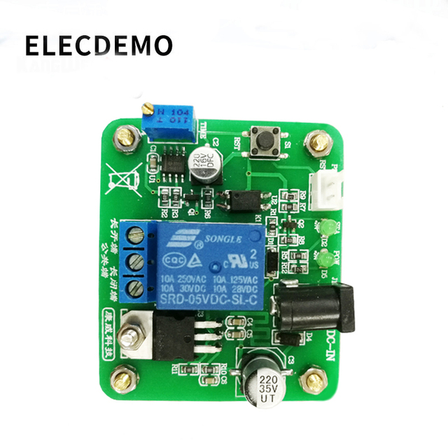 NE555 Module Delayed timing relay module timing time adjustable 6V~30V power supply Function demo Board