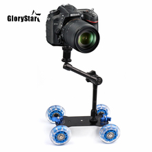 Magic-Arm Slider Video-Rail Dolly Skater Dslr-Camera Mobile-Rolling Tabletop for Car