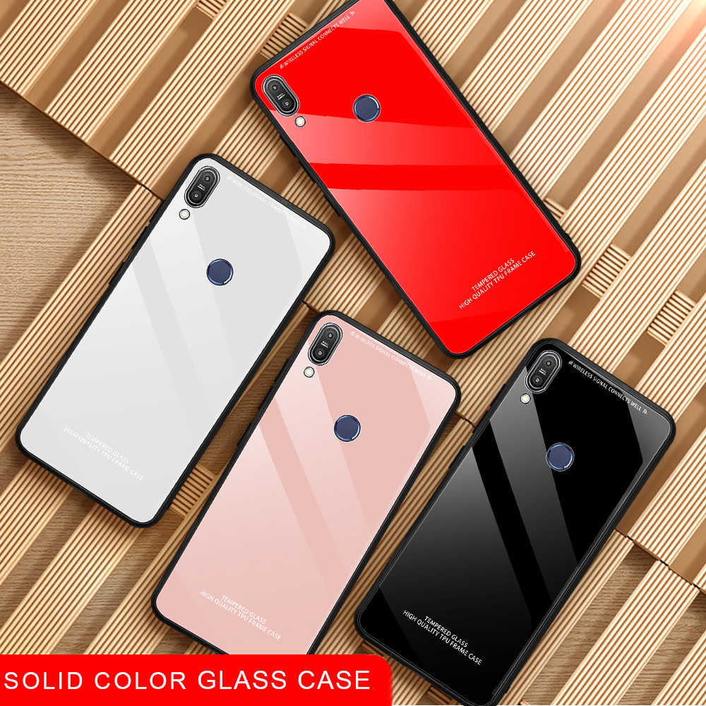 Luxury Tempered Solid Glass Case For Asus Zenfone Max Pro M2 ZB633KL ZB631KL M1 ZB601KL ZB602K Glass Mirror Capa Coque Funda Bag