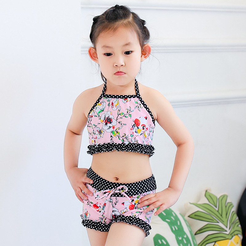 Girl'S Swimwear KID'S Swimwear Girls Princess Bikini Baby Split Type Boxer Big Children Swimming Trunks Send Hat