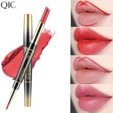 2 в 1 для губ LinerLong-долговременная губная помада матовая водонепроницаемый карандаш для губ увлажняющие губные помады макияж косметика для контурирования TSLM2