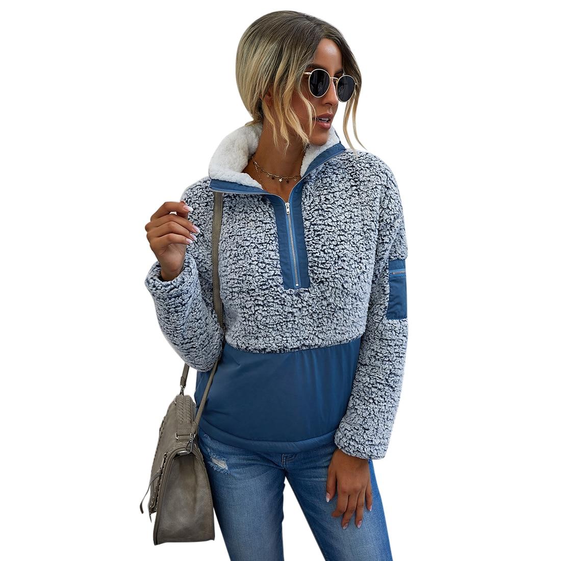 Свитшот женский с длинным рукавом пуловер в стиле пэчворк повседневный