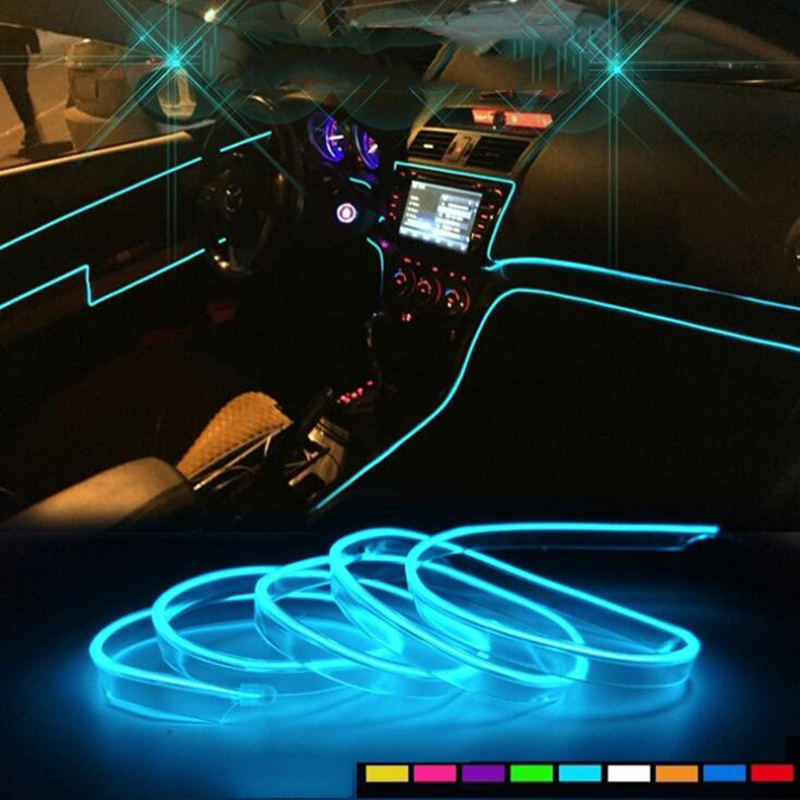 DC 12V LED Light Strip Lamp 2m White Power Contactor and Driver Flexible Car