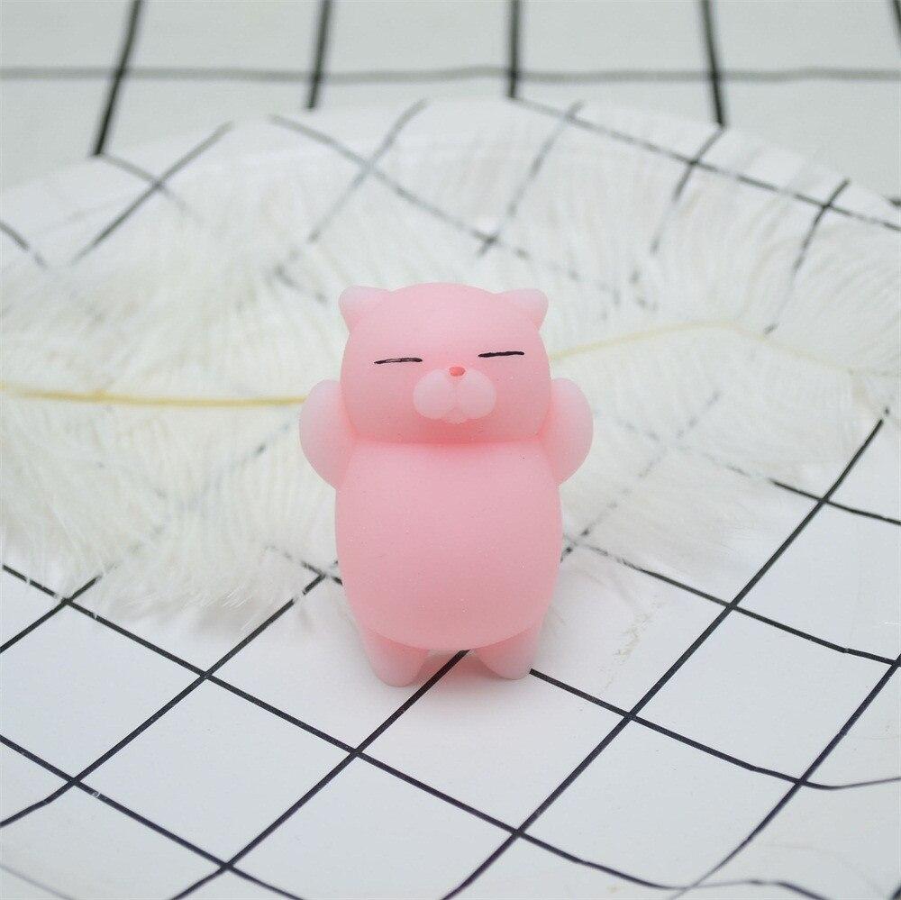 Decompression Toys Squeeze Mochi Squishy Stress Reliever Antistress Fun Cute Kids Cat img2
