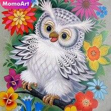 MomoArt Diamond Painting Cartoon Flowers Mosaic Full Drill Square Rhinestone Embroidery Owl Home Decor