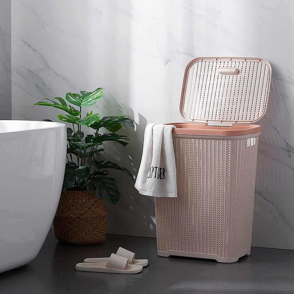 Большая корзина для хранения белья корзина для белья корзина из ротанга стиль пластиковая грязная одежда стиральная сумка-Органайзер для хранения 2020 Горячая