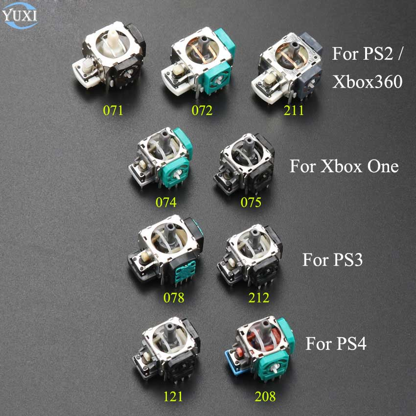 YuXi 1pcs 3D Analog Grips sticks Joystick Stick Module Rocker For Xbox ONE Xbox360 Controller PlayStation 2 3 4 PS2 PS3 PS4(China)
