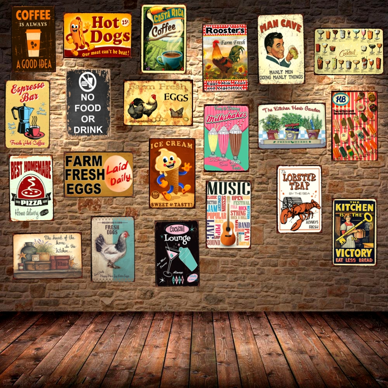 Man Cave Bar Cafe Hot Pizza Framed Canvas Art Print Poster Kitchen Diner