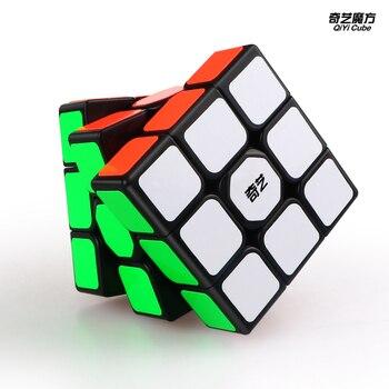 QiYi Sailing W 3x3x3 Speed Magic Cube Black Professional 3x3 Cube Puzzle Educational Toys For Kids Gift 3x3 qiyi sail w 3x3x3 magic cube speed cubes puzzle neo cube 3x3 cubo magico educational toys professional 3x3 speed cube