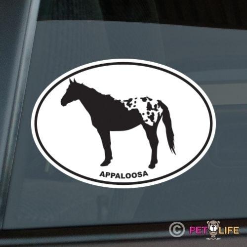 Appaloosa Oval Sticker Die Cut Vinyl Ver 3 Stock Horse