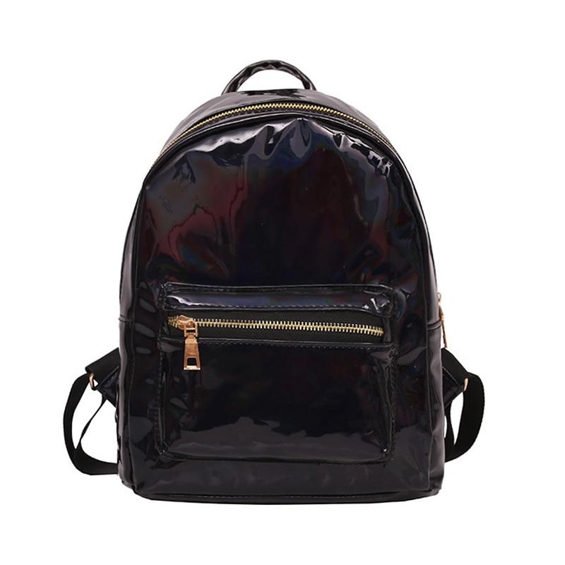 Hologram Backpack Laser Multicolor Mochila Primary-School-Leather Small Feminino Zaino