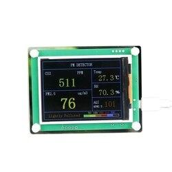 CO2 диоксид углерода PM2.5 модуль детектора качества воздуха датчик газа тестер детектор с 2,8 дюймовый TFT дисплей мониторинга