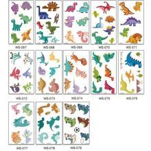 70 tatuagens (pacote of13 folhas) impermeável dinossauro stickerstemporary tatuagens crianças
