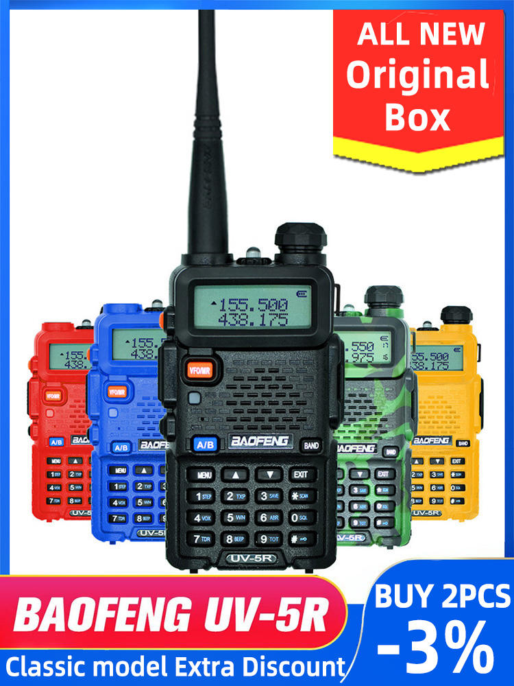 VHF UHF Transceiver Radio-Station Walkie-Talkie Ham-Radio Professional UV5R Hunting Portable