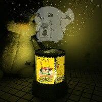TAKARA TOMY-Lámpara de proyección de estrellas de Pokemon Pikachu, iluminación nocturna de Linda caricatura colorida, Accesorios luminosos para fiesta