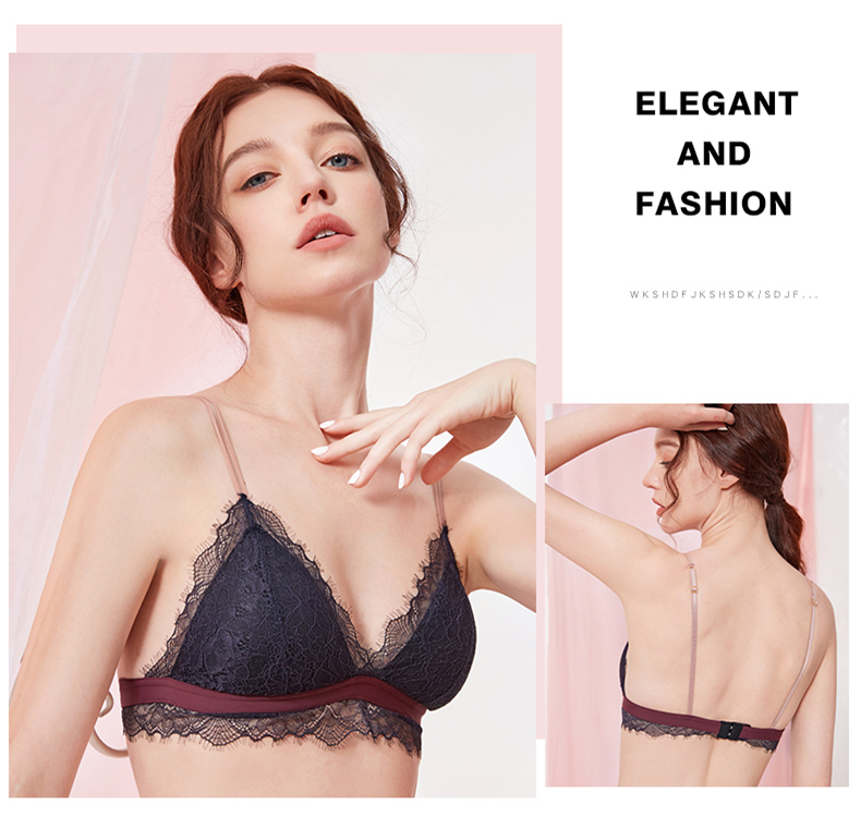 H9a2a5ef389ea46b88491003d3dc4403da Sexy New Ladies Underwear Lace Bra Set Eyelash Lingerie Women's Push Up Bralette Comfortable Bra and Panty Set Luxury Intimates