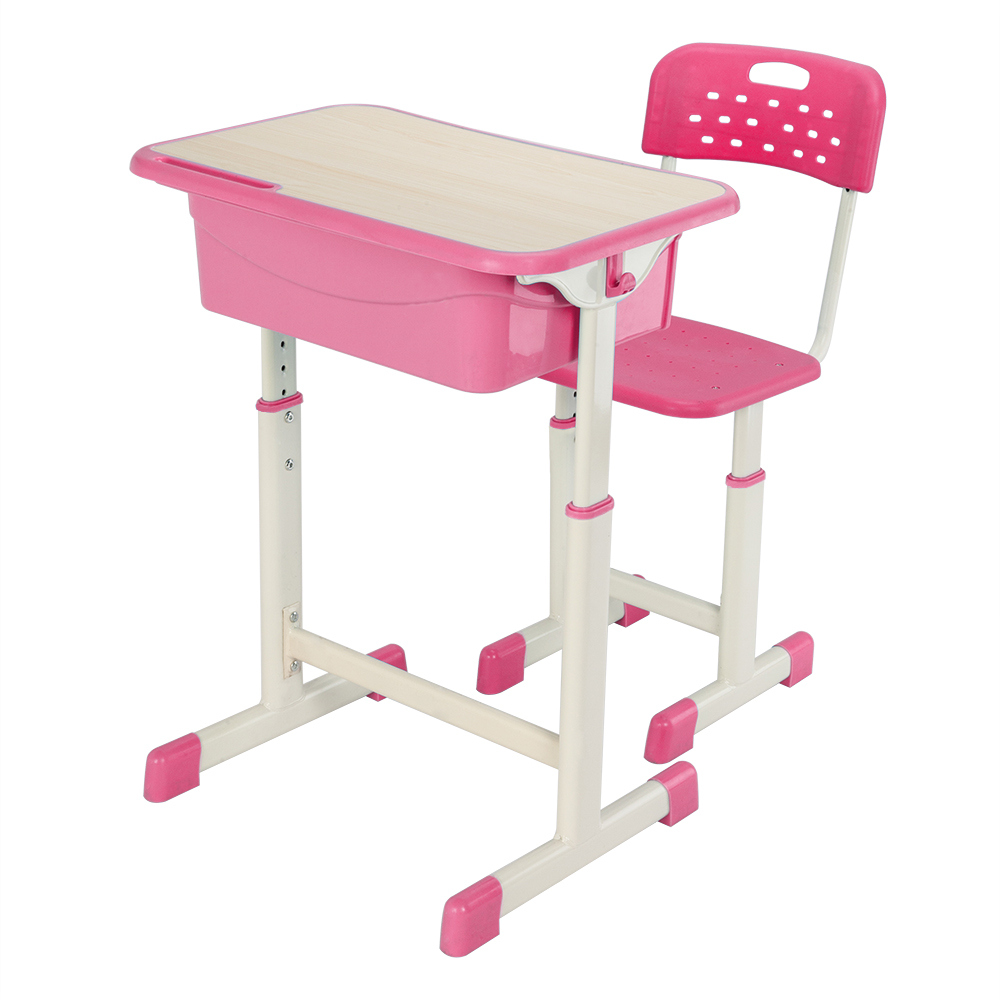 Adjustable Open Front Student Desk Chair Kids Table And Chairs With Drawer Storage,Pencil Case