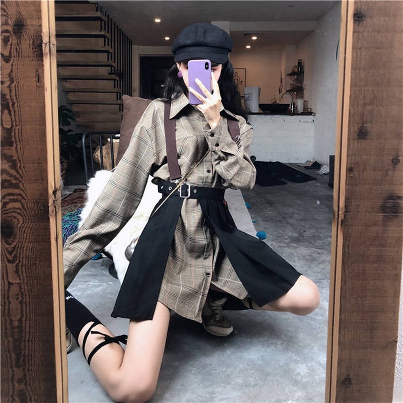 NiceMix Women Two Piece Set Single Breast Drawstring Fashion New Top 2020 Winter Elegant Small Fresh Skirt Small Fresh Casual