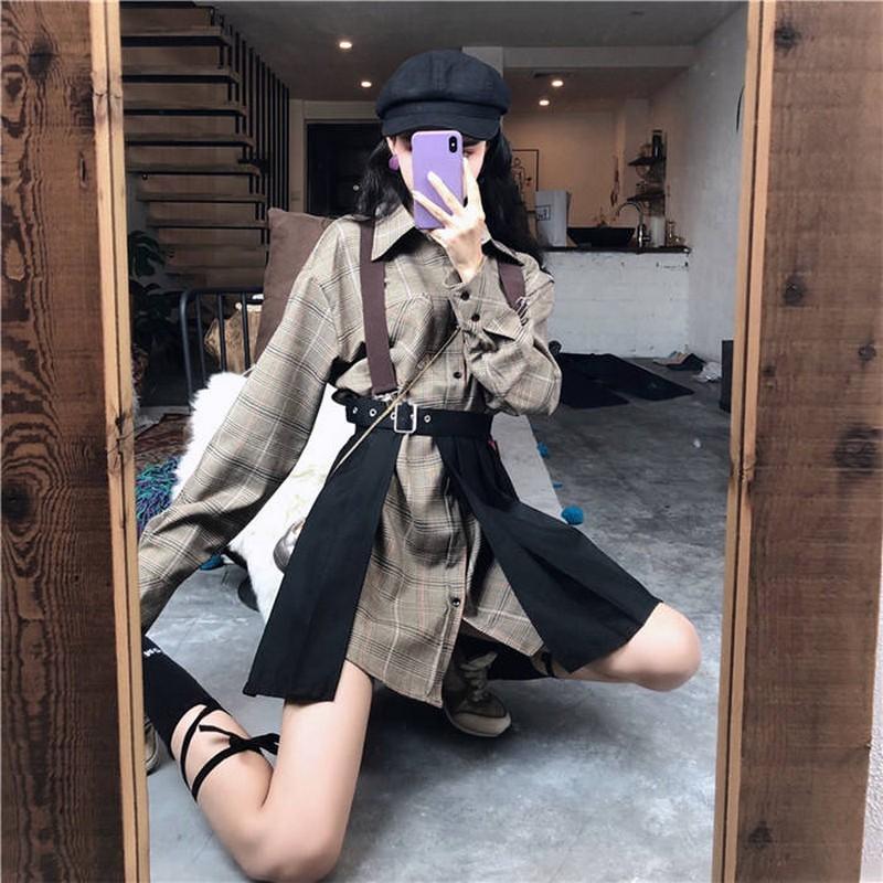 NiceMix Women Two Piece Set Single Breast Drawstring Fashion New Top 2020 Winter Elegant Small Fresh Skirt Small Fresh Casual