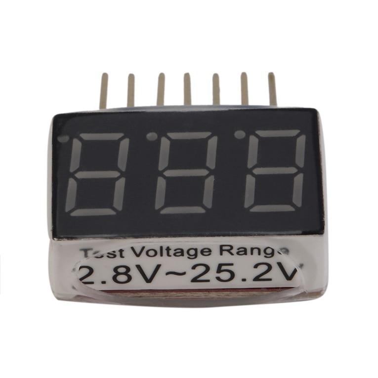 Тестер батареи er 1-6s RC 1 S-6s светодиодный звуковой сигнал низкого напряжения Lipo индикатор напряжения батареи Контролер тест er тест 2,8 V-25,2 V