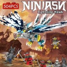 цена на 504pcs Eagle Model Assembling Building Blocks Phantom Ninja Figures Ninjagoes Bricks Educational Toys For Children Kid Gift Boy