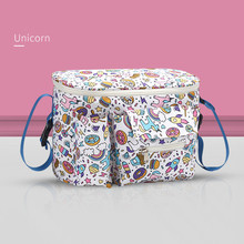 New baby stroller bag hook multi-function baby stroller storage bag BB car umbrella basket bag cartoon multifunctional waterproof baby stroller bag baby universal hanging basket car seat storage bag stroller accessories