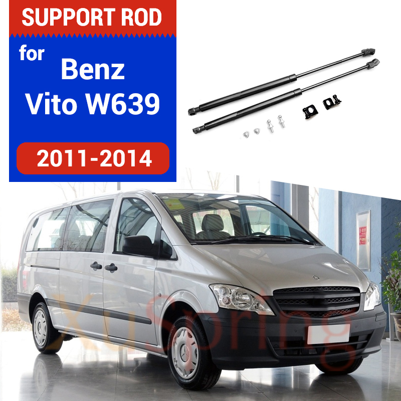 Car Front Hood Cover Spring Gas Lift Support Strut Bars Hydraulic Rod for Benz Vito Valente V-class W639 2004-2013