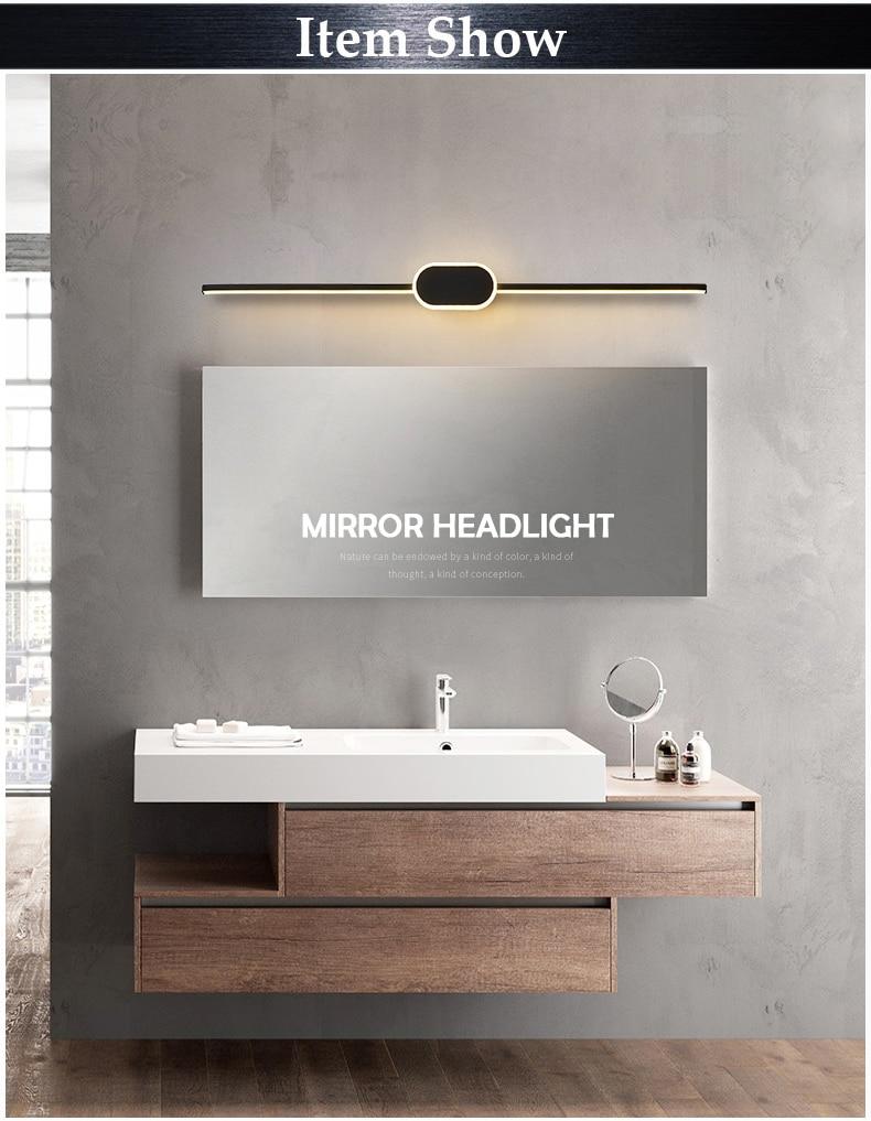 parede moderna 9 w 40 cm maquiagem espelho luminárias AC85-265V