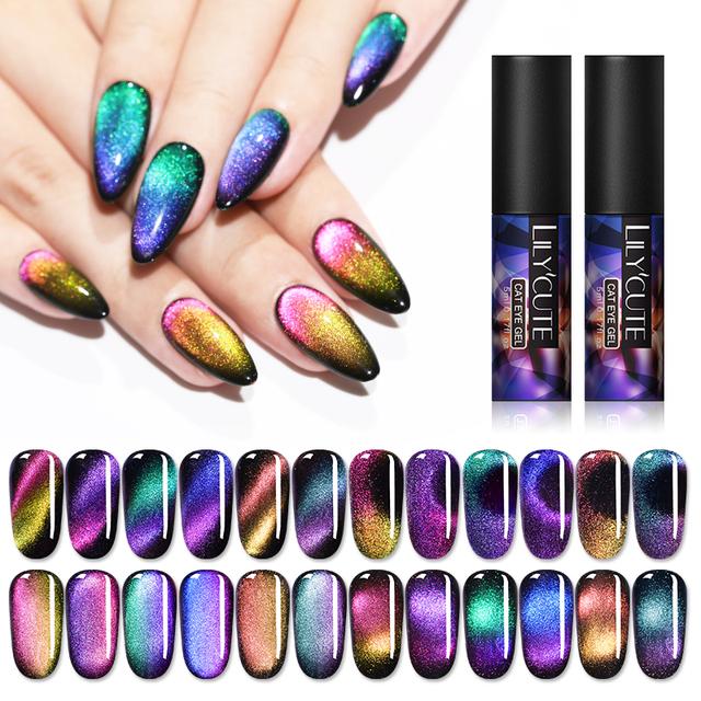 LILYCUTE 5ml Auroras Luminous Cat Eye UV Gel