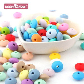 Keep&Grow 500pcs Silicone Lentil Beads Baby Teething Toys DIY Pacifier Chains Accessories Baby Oral Care Teether Products Abacus